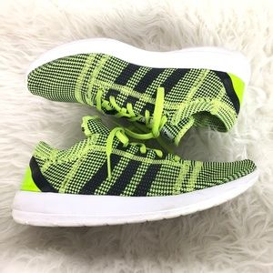 Adidas Running Sneakers Green Neon and Black - 9.5